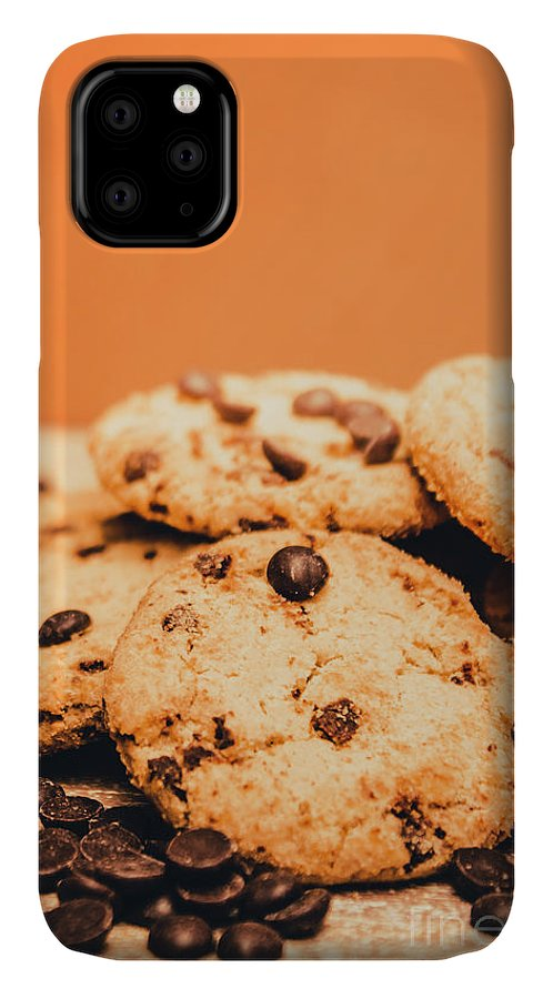 Chocolate IPhone 11 Case featuring the photograph Home Baked Chocolate Biscuits by Jorgo Photography - Wall Art Gallery