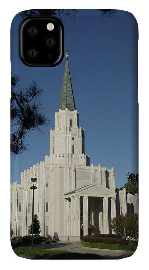 Lds IPhone Case featuring the photograph Houston Lds Temple by Marie Leslie