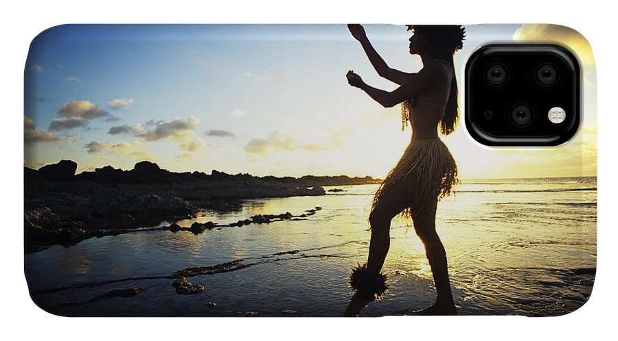 Arm IPhone Case featuring the photograph Hula Silhouette by Vince Cavataio - Printscapes