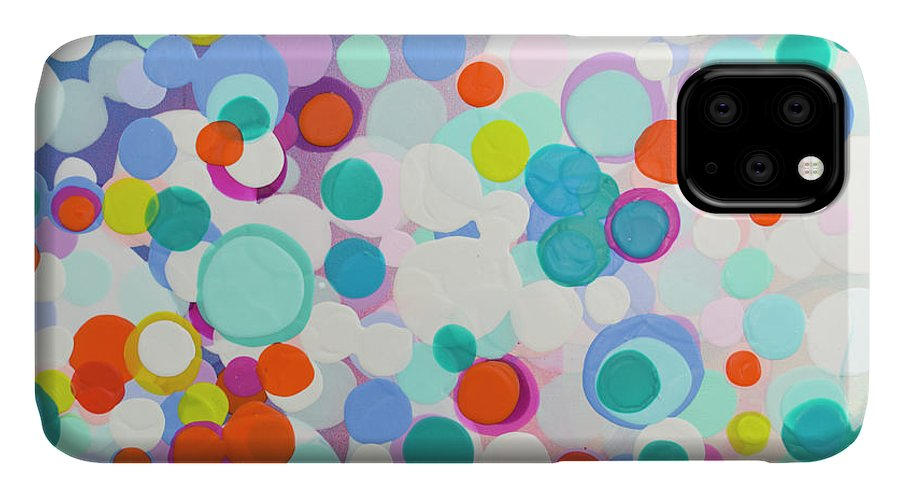 Abstract IPhone 11 Case featuring the painting I Ever Wanted by Claire Desjardins
