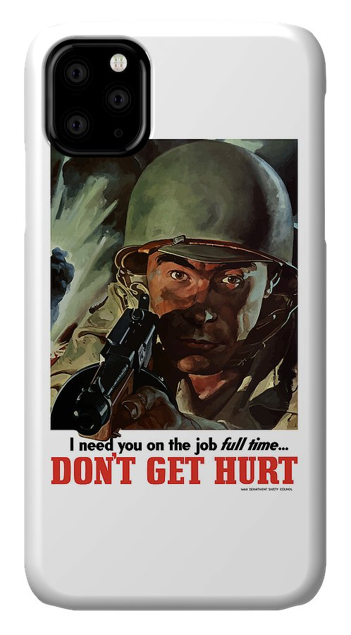 World War Ii IPhone Case featuring the painting I Need You On The Job Full Time by War Is Hell Store