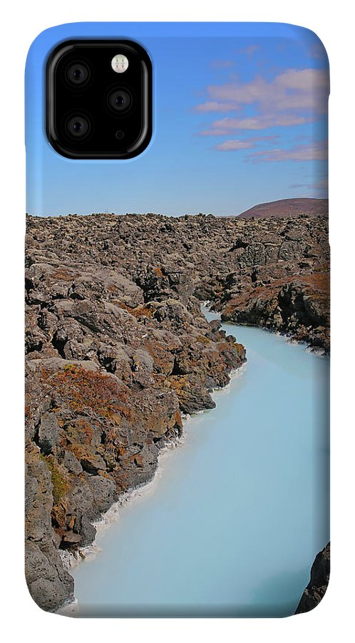 Iceland IPhone 11 Case featuring the photograph Iceland Tranquil Blue Lagoon by Betsy Knapp