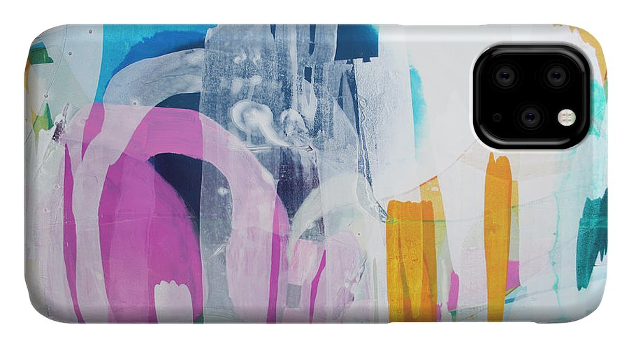 Abstract IPhone 11 Case featuring the painting Icing On The Cake by Claire Desjardins