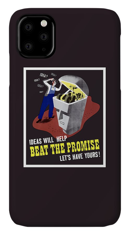 Wwii IPhone 11 Case featuring the digital art Ideas Will Help Beat The Promise by War Is Hell Store