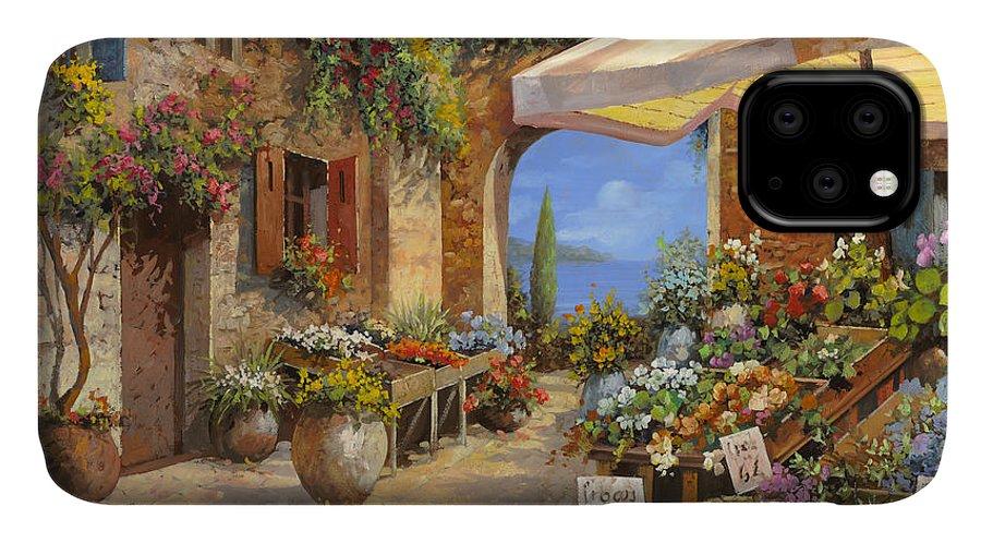Landscape IPhone Case featuring the painting Il Mercato Del Lago by Guido Borelli