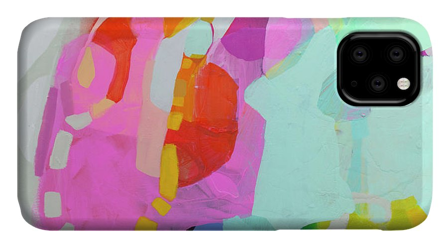 Abstract IPhone 11 Case featuring the painting I'm So Glad by Claire Desjardins