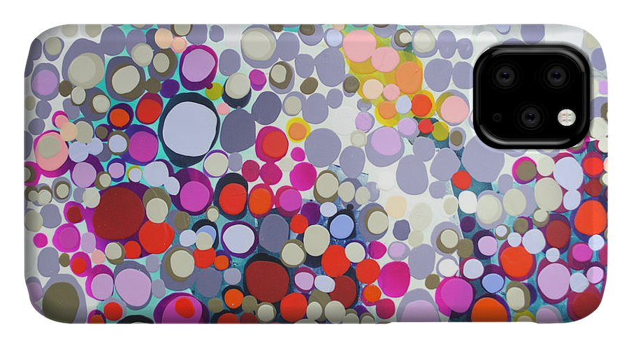 Abstract IPhone 11 Case featuring the painting In The Winter by Claire Desjardins