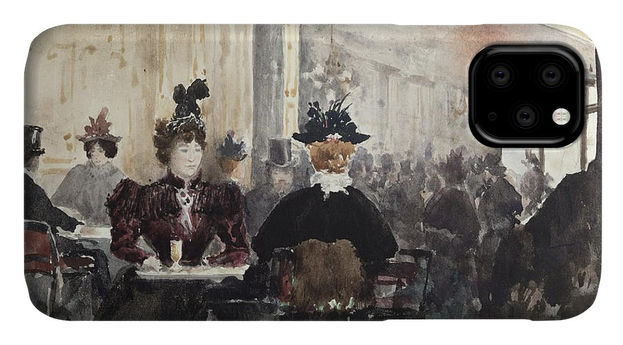 Interior IPhone Case featuring the painting Interior Of The Concert Rouge by Henri Laurent Mouren