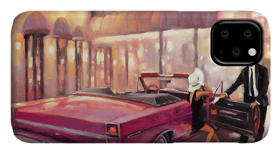 Romance IPhone Case featuring the painting Into You by Steve Henderson