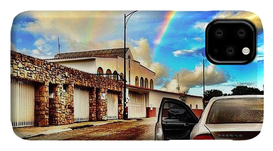 Popularpics IPhone Case featuring the photograph #iphone # Rainbow by Estefania Leon