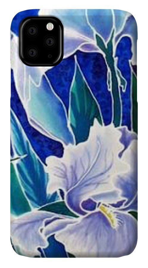 Iris IPhone Case featuring the painting Iris by Francine Dufour Jones