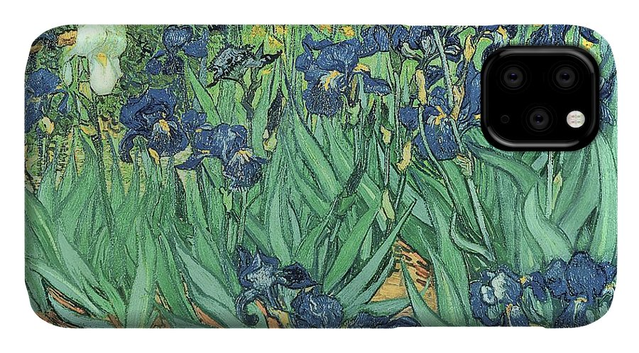 Irises IPhone Case featuring the painting Irises by Vincent Van Gogh