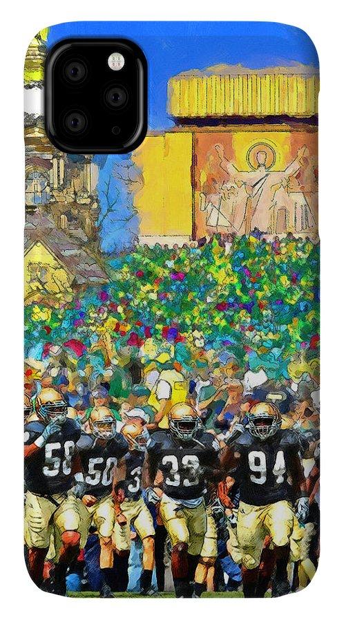 Irish IPhone Case featuring the painting Irish Run To Victory by John Farr