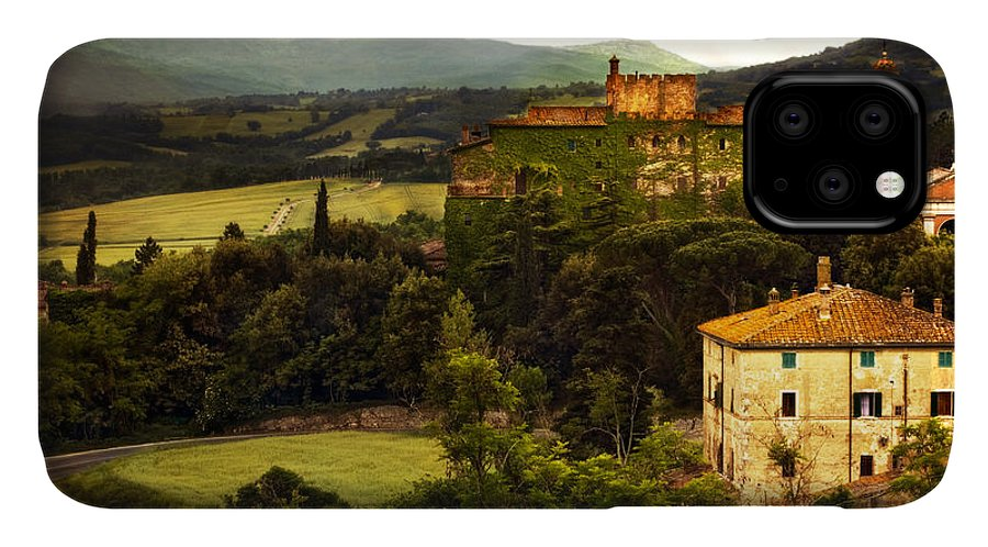 Italy IPhone 11 Case featuring the photograph Italian Castle And Landscape by Marilyn Hunt