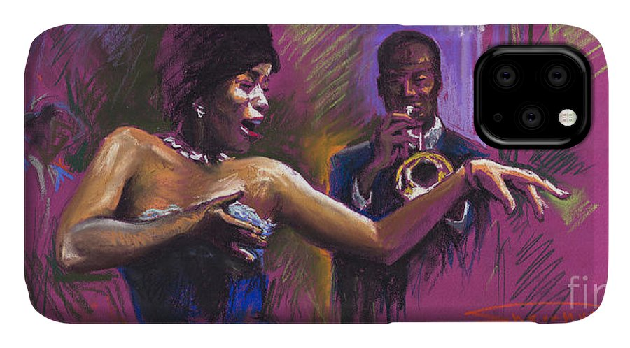 Jazz IPhone Case featuring the painting Jazz Song.2. by Yuriy Shevchuk