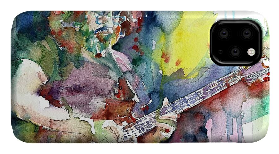 Jerry Garcia IPhone Case featuring the painting Jerry Garcia - Watercolor Portrait.16 by Fabrizio Cassetta