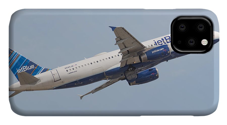 Jetblue IPhone Case featuring the photograph Jet Blue by Dart and Suze Humeston