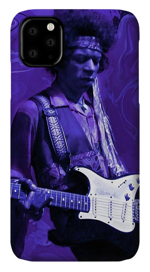 Jimi Hendrix IPhone 11 Case featuring the photograph Jimi Hendrix Purple Haze by David Dehner