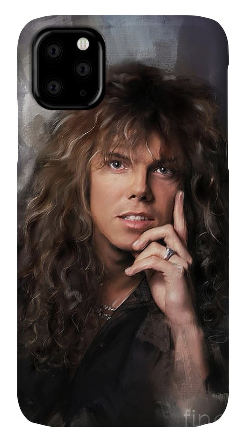 Joey Tempest IPhone Case featuring the painting Joey Tempest by Melanie D