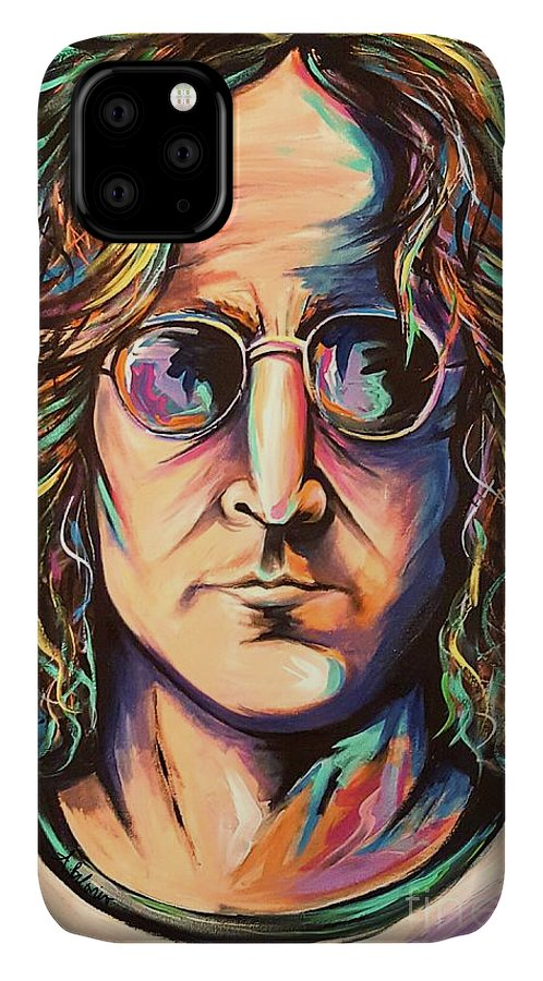 John Lennon IPhone Case featuring the painting John Lennon by Amy Belonio