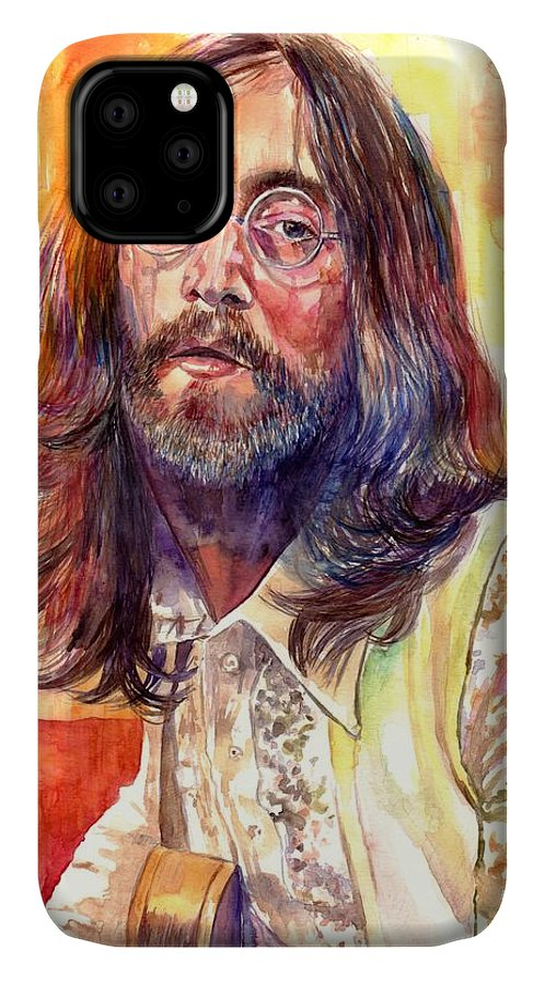 John Lennon IPhone Case featuring the painting John Lennon watercolor by Suzann Sines