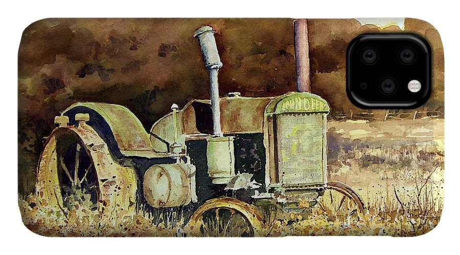 Tractor IPhone Case featuring the painting Johnny Popper by Sam Sidders