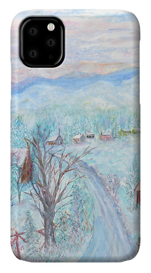 Winter IPhone Case featuring the painting Joy of Winter by Ben Kiger