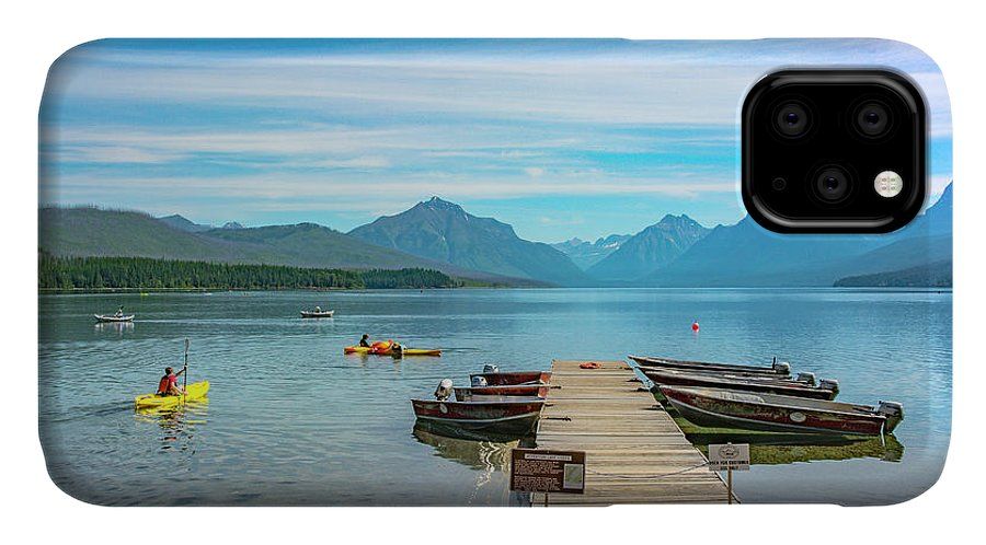Montana IPhone Case featuring the photograph July 4th on Lake McDonald by Bryan Spellman