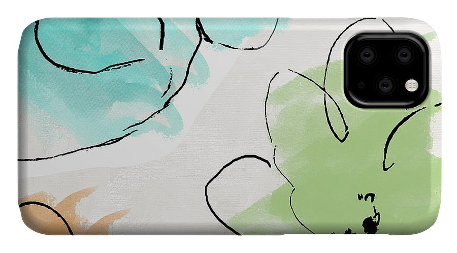 Abstract IPhone Case featuring the painting Kasumi by Mindy Sommers