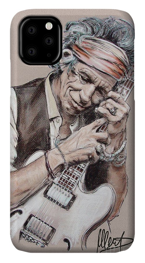 Keith Richards IPhone Case featuring the painting Keith by Melanie D