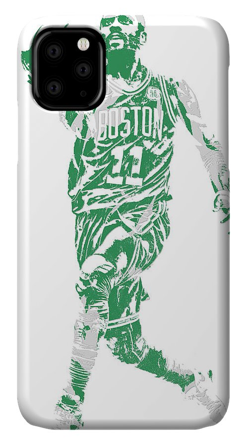 Kyrie Irving IPhone Case featuring the mixed media Kyrie Irving Boston Celtics Pixel Art 43 by Joe Hamilton