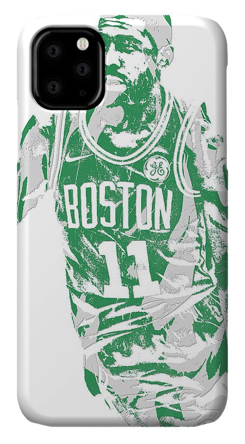 Kyrie Irving IPhone Case featuring the mixed media Kyrie Irving Boston Celtics Pixel Art 6 by Joe Hamilton