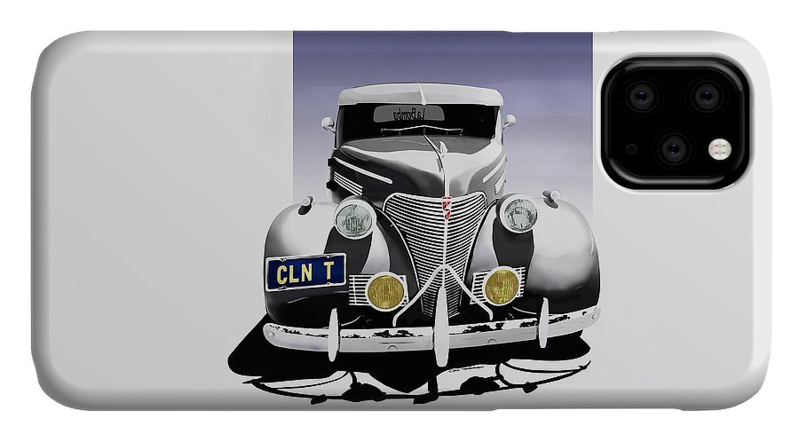 Chevrolet IPhone Case featuring the digital art La Bomba Lowrider by Colin Tresadern