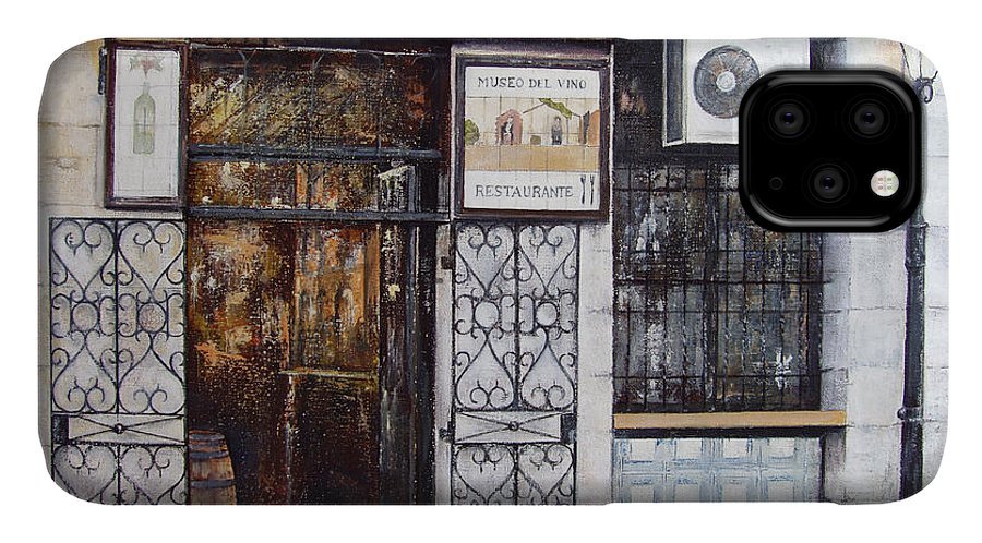 Bodega IPhone Case featuring the painting La Cigalena Old Restaurant by Tomas Castano
