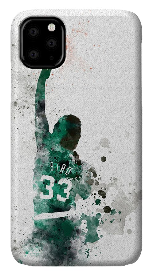 Larry Bird IPhone Case featuring the mixed media Larry Bird by My Inspiration