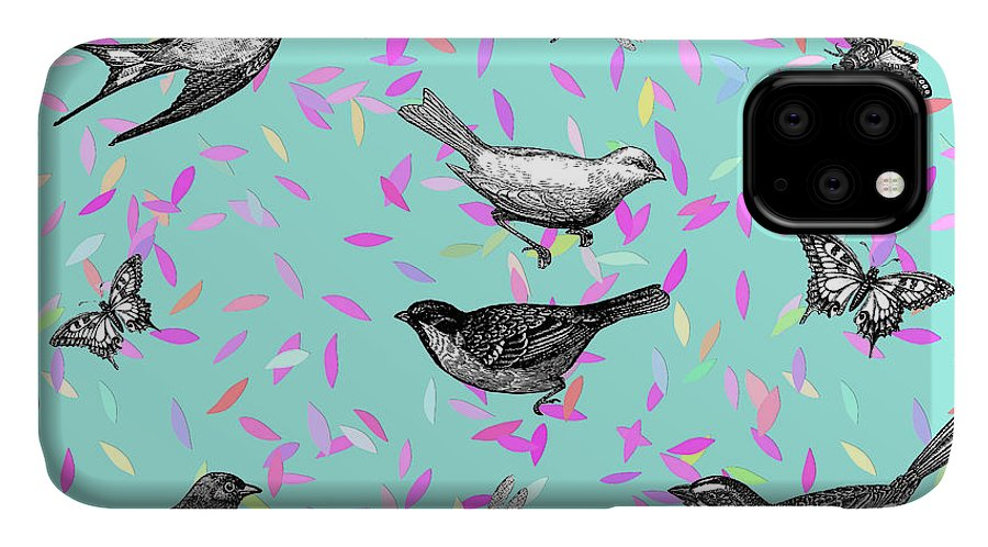 Cute IPhone Case featuring the digital art Let It Fly by Gloria Sanchez