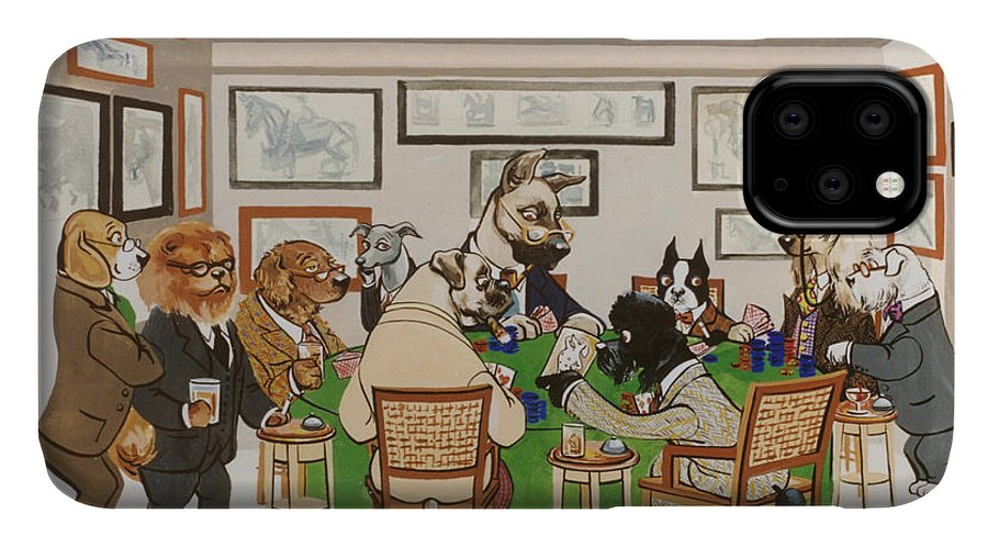 Poker IPhone Case featuring the painting Lexington Club by Constance Depler Coleman