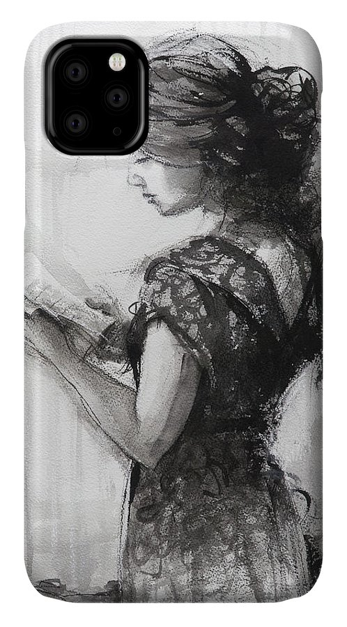 Reading IPhone Case featuring the painting Light Reading by Steve Henderson