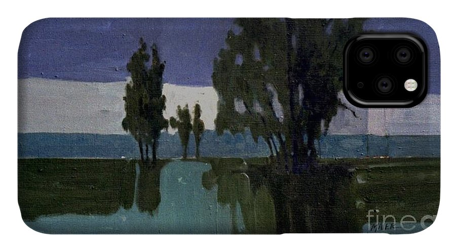 Nocturne IPhone Case featuring the painting Lights On The Horizon by Donald Maier