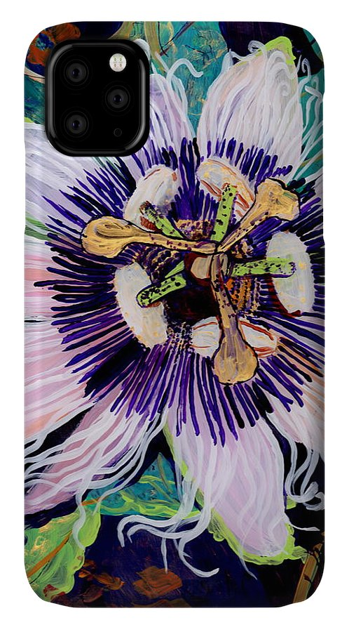 Lilikoi IPhone Case featuring the painting Lilikoi by Marionette Taboniar