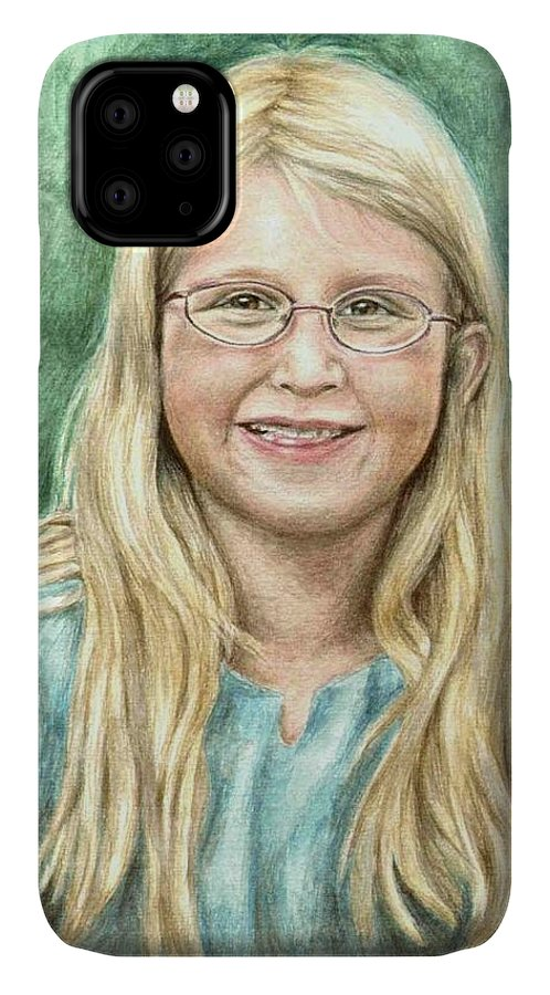 Girl IPhone Case featuring the painting Lily by Nicole Zeug