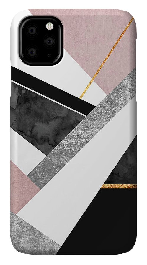 Digital IPhone Case featuring the digital art Lines and Layers by Elisabeth Fredriksson