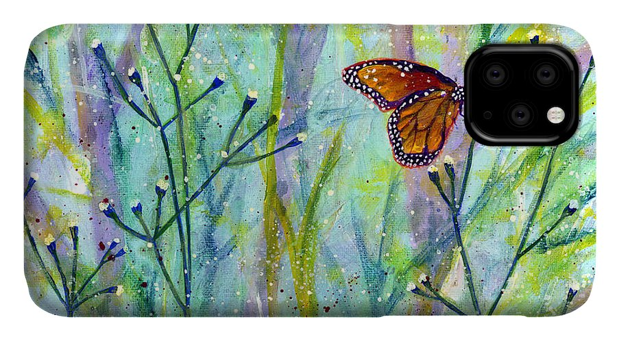 Butterfly IPhone Case featuring the painting Lingering Memory 1 by Hailey E Herrera
