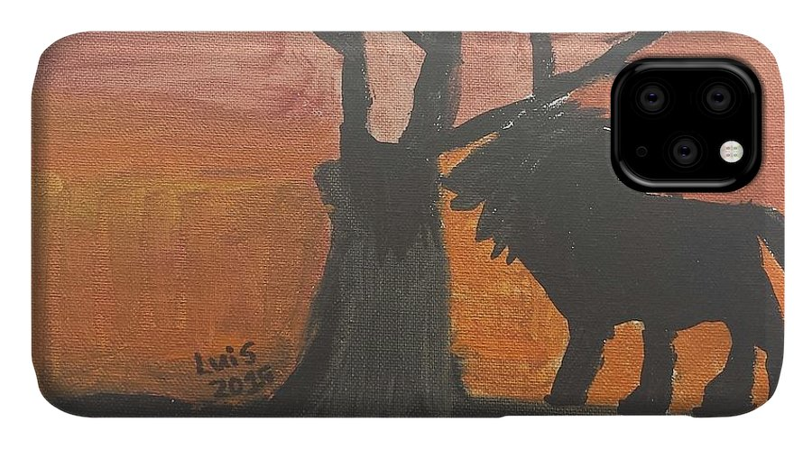 Lion Art IPhone Case featuring the painting Lion by Epic Luis Art