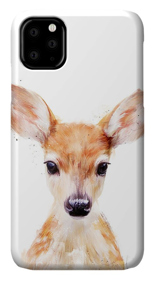 Fawn IPhone Case featuring the painting Little Deer by Amy Hamilton