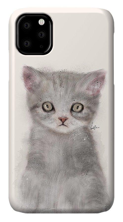 Kitten IPhone Case featuring the painting Little Kitten by Bri Buckley