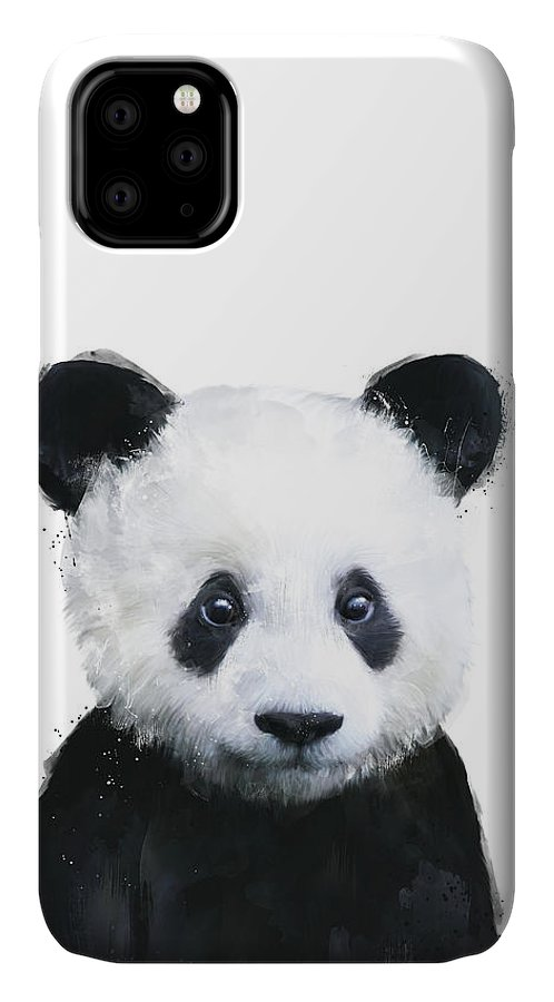 Panda IPhone Case featuring the painting Little Panda by Amy Hamilton