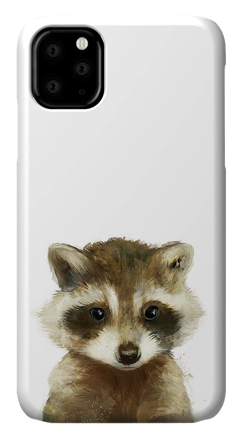 Raccoon IPhone Case featuring the painting Little Raccoon by Amy Hamilton