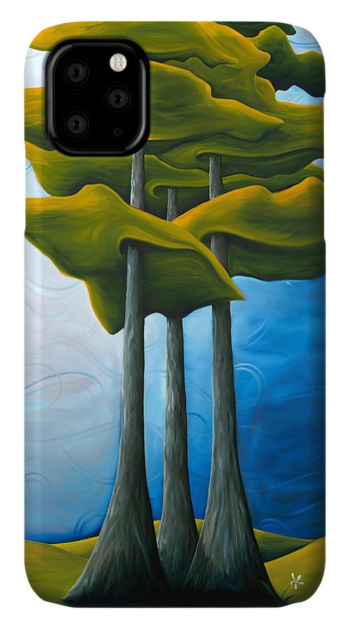 Landscape IPhone Case featuring the painting Living In The Shadow by Richard Hoedl