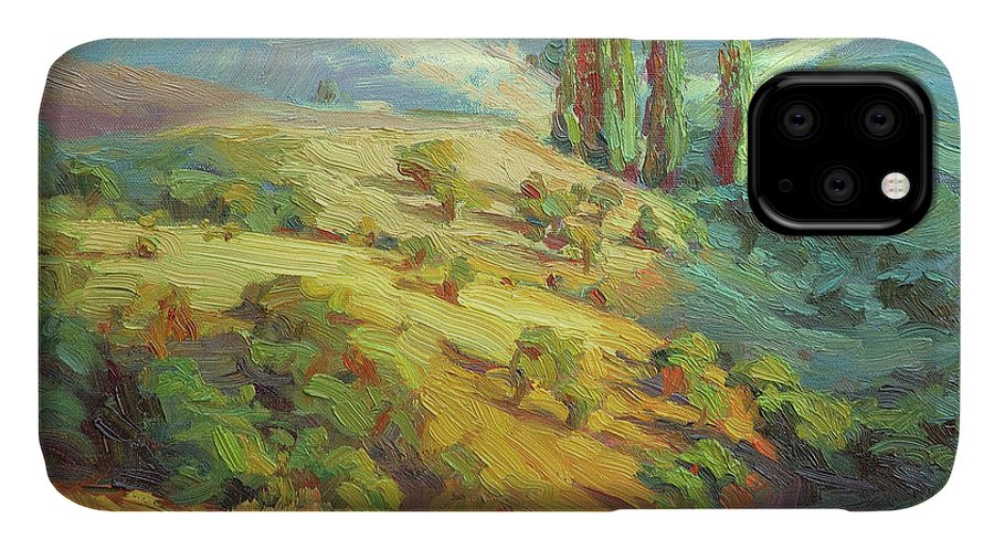 Country IPhone Case featuring the painting Lombardy Homestead by Steve Henderson